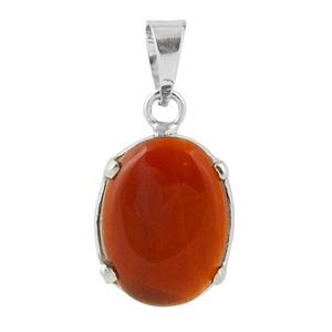 Сребърен медальон с карнеол