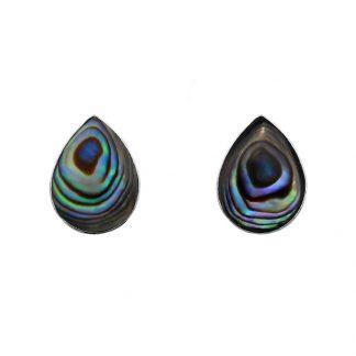 Капковидни сребърни обеци с кралски седеф (абалон)