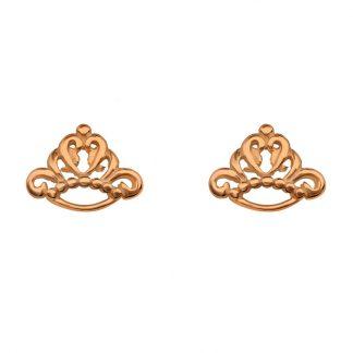 Сребърни обеци на винт Queen