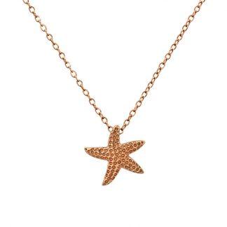 Сребърно колие с морска звезда Sea Star