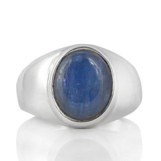 Сребърен пръстен с кианит