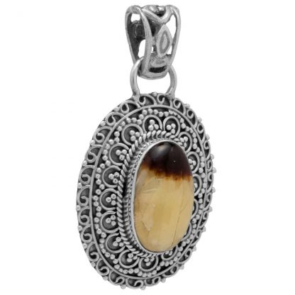 Медальон със септария в сребърен обков