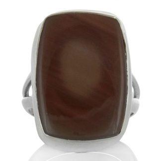 Сребърен пръстен с едър имперски яспис