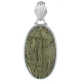 Сребърен медальон със слънчев пирит