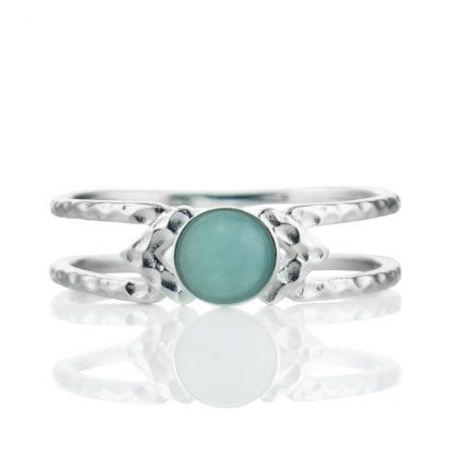 Нежен сребърен пръстен с амазонит