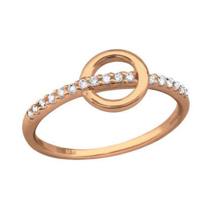 Нежен сребърен пръстен с циркони Cycle